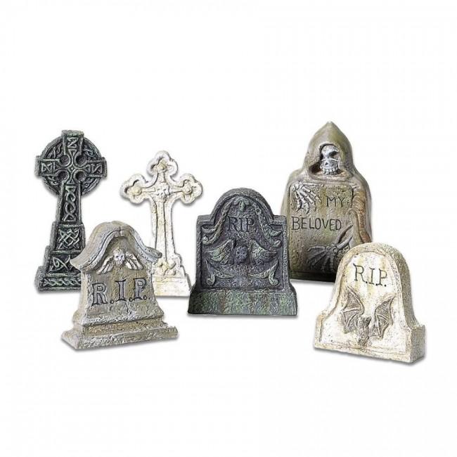 12 village tombstones