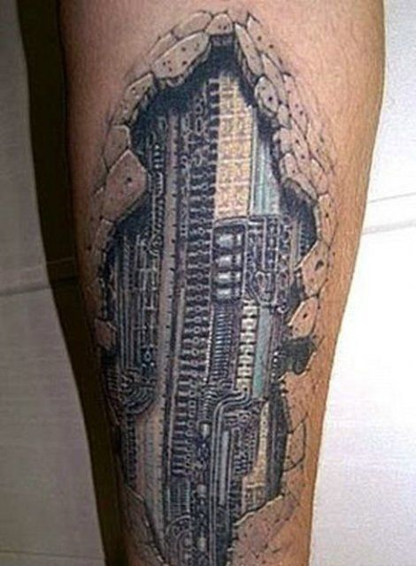 Everything Mixed 15 Amazing 3D Tattoos (Photos) - Everything Mixed