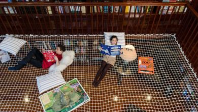 Photo of This Library with Reading Nets Is Amazing for Adults too, Not Just Kids
