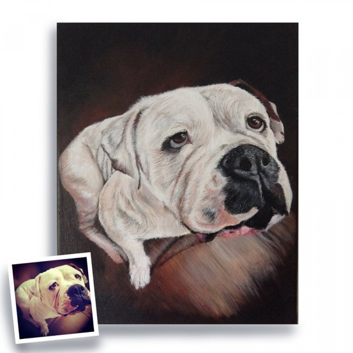 You can get here a custom portrait of your dog, kitty or animal friend. How cool is that?