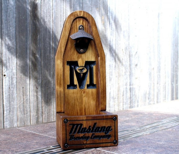 And if you get the Beer Caddy, you need a personalized bottle opener, right? It's available here, on Amazon Handmade.