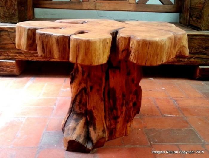 Naturally Unique Cypress Tree Trunk Coffee Table. Costs a fortune, worth every penny! Check it out here.