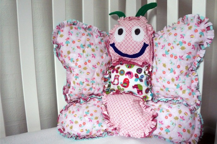 And a similarly cute and awesome Butterfly Rag Pillow - here.