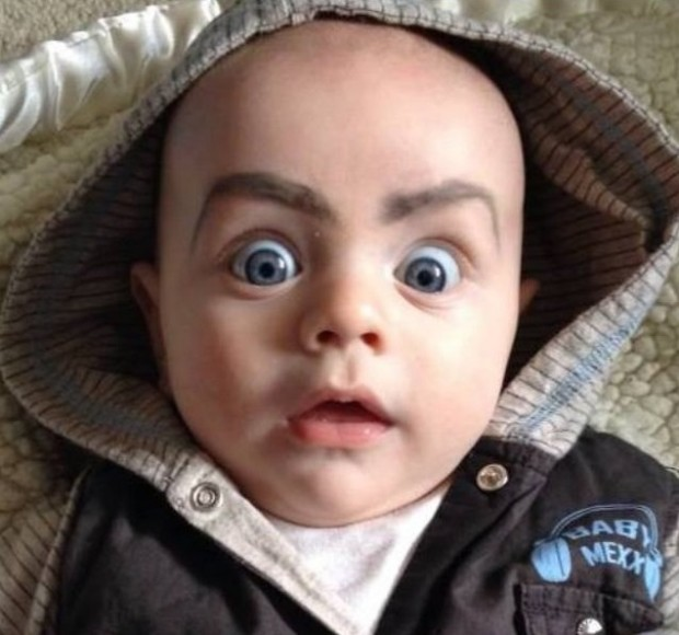 babies with eyebrows 10