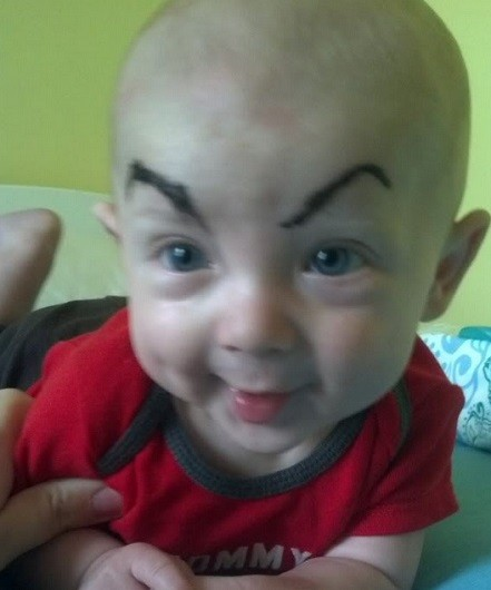 babies with eyebrows 13