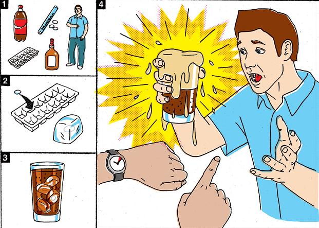 How to Make an Exploding Drink with Mentos and Coke