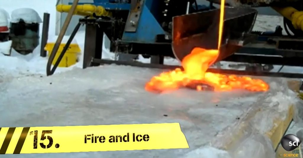 This Video Shows the Incredible Thing That Happens When Lava Meets Ice