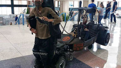 Photo of Incredible! Disabled Student Benjamin Carpenter Turns Wheelchair into Spectacular Mad Max Cosplay