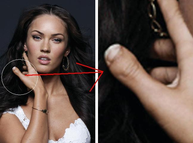 "Take Megan Fox, the beautiful Transformers star who has a ""toe thumb"","
