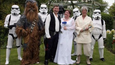 Photo of Star Wars Wedding Is Geeky, Cool