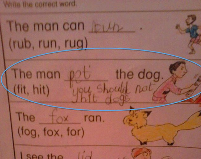 wrong but funny test answers 19