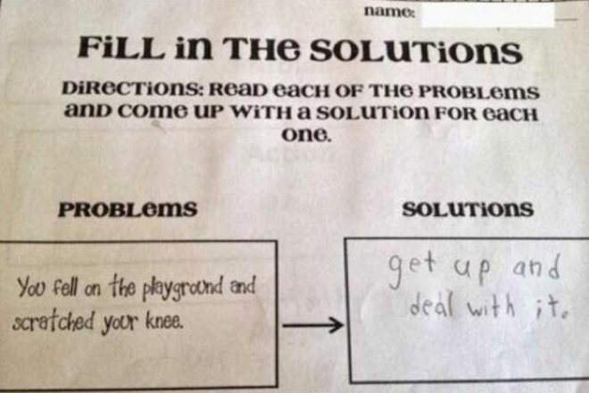 wrong but funny test answers 22
