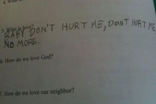 wrong but funny test answers 24