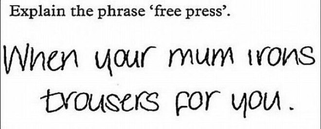 wrong but funny test answers 26